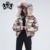 Women winter down coat with real fox fur collar european fashion reversible down bubble coat