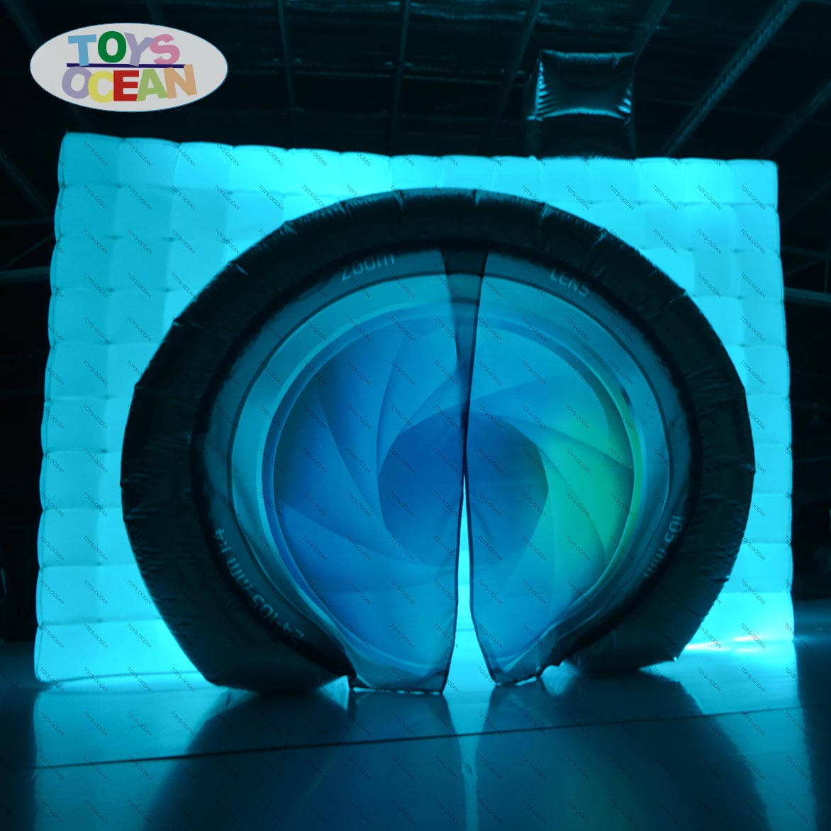 LED inflatable photo booth with camera