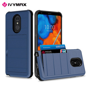 IVYMAX TPU PC card slot wire drawing brushed cell phone case for lg stylo 5