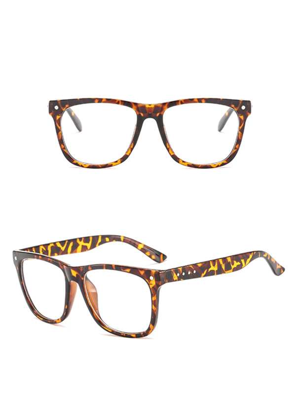 plasticFrame Eyeglasses Men's Women's Retro Square Optical Lens Eyewear