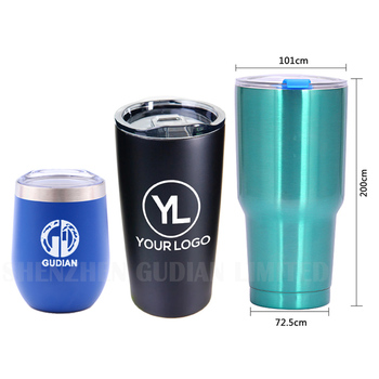 Sublimation Wine Tumbler Travel Mug Custom Logo 12 20oz 30 oz Double Wall Stainless Steel Coffee Tumbler Cups With Lids