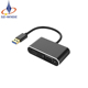 USB 3.0 Hub usb to hdmi vga 2 in 1 adapter converter Dual Output Audio and Video support 1080p for Win7/8/10 PC