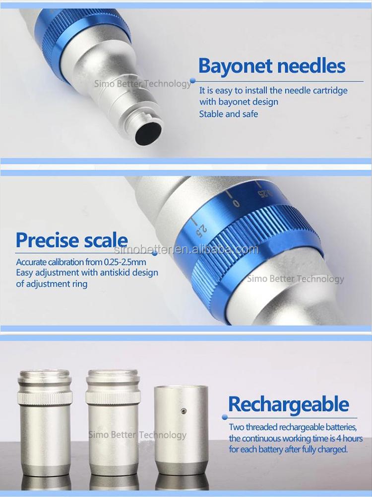 متعددة الوظائف إبر a6 الدكتور القلم microneedling نظام