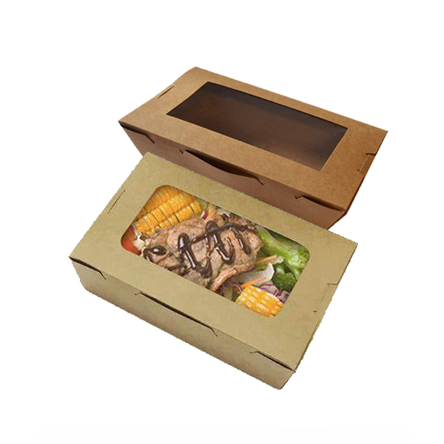 Waxed pe coated recycle disposable white cardboard with compartment pulp window for burger food paper lunch box malaysia