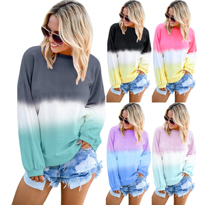 Fashion Spring Women Sweatshirt Casual Long Sleeve Pullover Print Crewneck Womens Sweatshirt