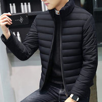 Low price high quality down cotton jacket men custom winter coats shiny padding jacket men
