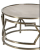 3-Piece glass metal coffee table ,glass iron round high coffee table pedestal