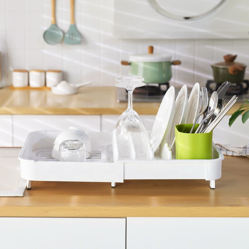 Dish Drying Rack Lightweight Self-Draining Dish Rack for Kitchen Sink and Counter at Home