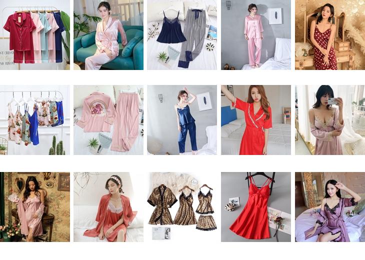 2020 tarzı pijama nighty seksi yüksek kaliteli babydoll ilkbahar ve sonbahar uzun kollu iki parçalı Set elbise