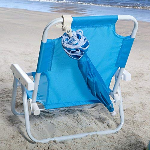 Cartoon design outdoor kids chair for camp beach folding beach chair with umbrella foldable camping kids chair
