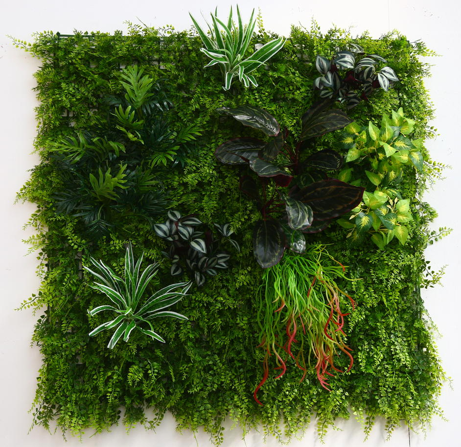 100cmx100cm Customized Cheap Small <strong>Leaves</strong> Wall Hanging Plants Outdoor <strong>Green</strong> Wall Decoration <strong>Artificial</strong> Plant Wholesale