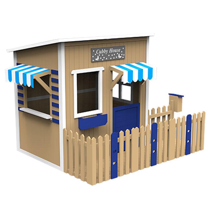 Los niños al aire libre de jardín de madera, casa de juego casita de madera de casa para jardín