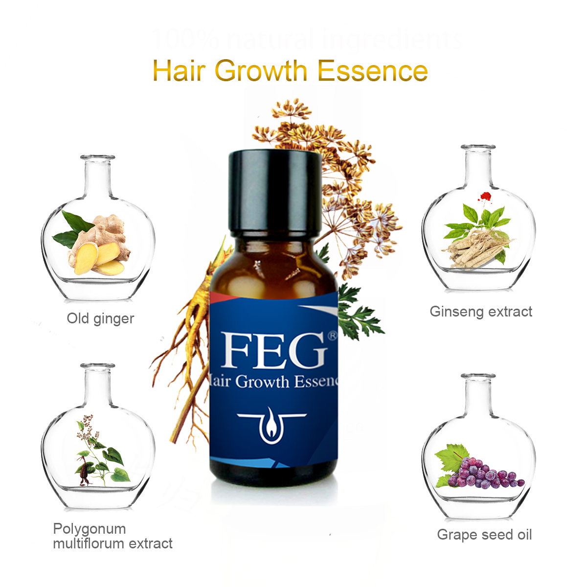 Customize Hair Oil Hair Growth Essence Tonics Alopecia Treatment Purely Essential Oil