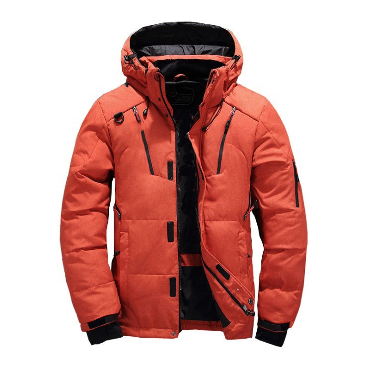 Fashion Thick Snow Overcoat White Duck Down Puffer Mens Winter Jacket