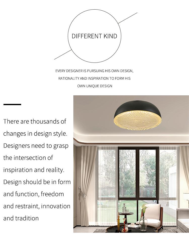 Zhongshan Wholesale Industrial Simply Balcony living room Black LED Ceiling Lamp