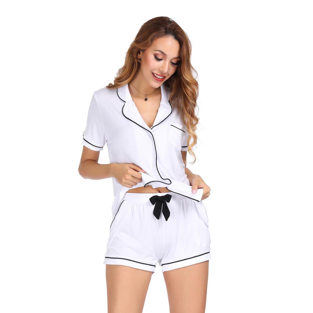 Женская легкая Хлопковая пижама на пуговицах, пижамный комплект, короткие летние пижамы