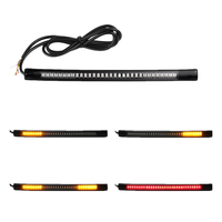 "Universal Motorcycle Car Led Safety Light Strip Tail Brake Turn Signal 32led 8"" Flexible Led Motorcycle Lighting System"