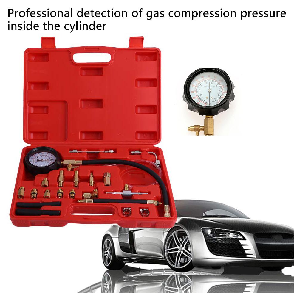 7 Bar Car Fuel Injection Pump Injector Tester Pressure Gauge Gasoline Manometer