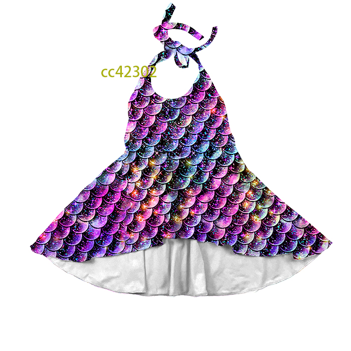cc42301 mermaid <strong>design</strong> <strong>Girl</strong> Dress fancy halter dresses for <strong>girls</strong>