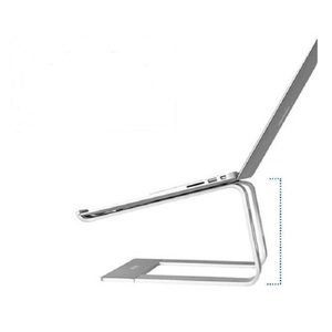 New arrival laptop desk holder portable silver aluminum foldable smart laptop dj stand