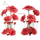 China high quality decorative artificial giant standing paper flowers for wedding giant EVA foam paper flowers