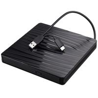 Raycue Play and Plug USB 3.0 & Type C High-Speed Data Transfer Player Portable External DVD/CD Drive Burner