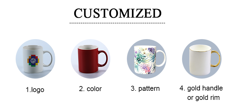 Wholesale Cheap Custom Plain White 11OZ Ceramic Coffee Mugs For Sublimation