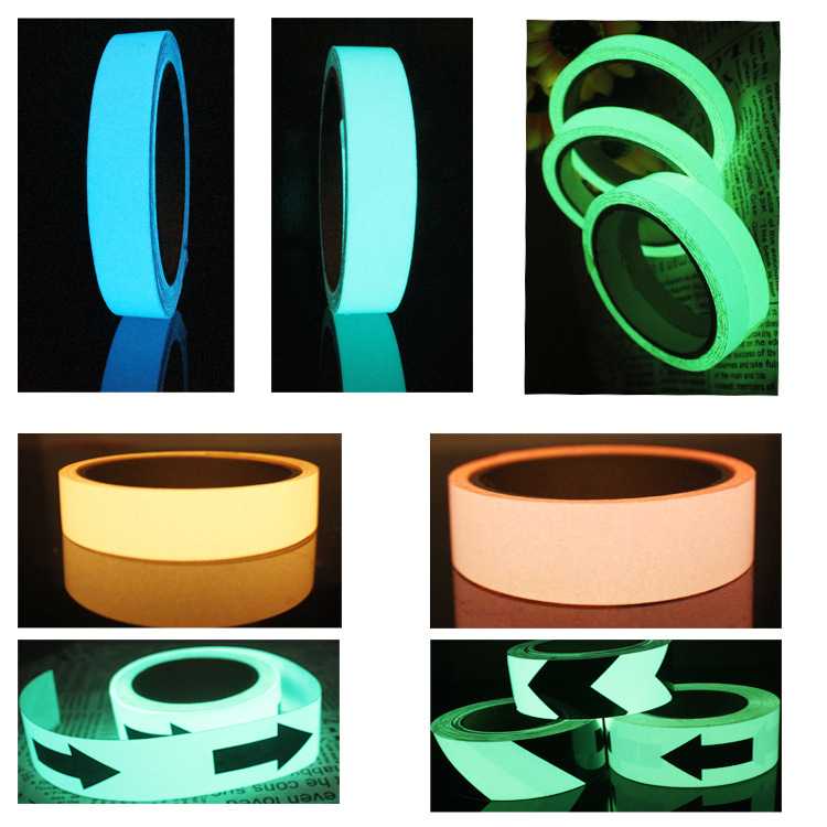 UV Blacklight Neon Fluorescent Duct Gaffer Cotton Tape for Party Decoration fluorescent light trail marking flagging tape