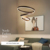 Nordic Style Modern Home Round Circle Lamp Living Room Bedroom Popular Round chandelier LED Ceiling Light