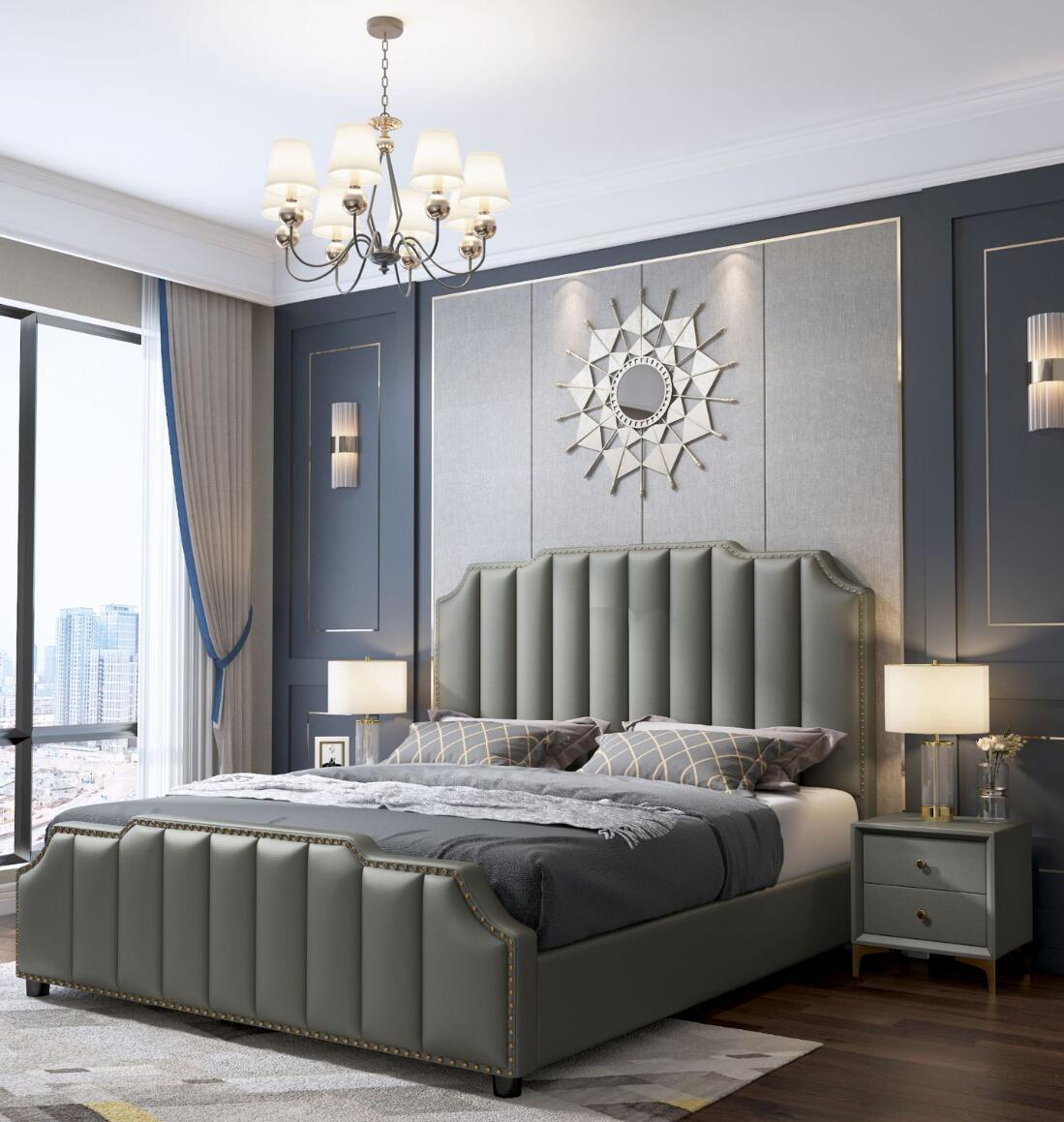 Wholesale Latest Designs Luxury Modern Simple Bed Room Furniture Bedroom Set Bed Frame Solid Wooden Double King Size Leather Bed Buy White Leather Headboard Bed Wholesale Latest Designs Luxury Moden Bed Solid Wooden