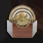 Wooden Trophy Plaques Trophy Premium Saudi Die Cast Metal Wooden Trophy Plaques Custom Trophy