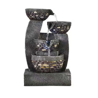 Outdoor Feng Shui Water Fountain Decorative Statue Resin Fountain Figurine For Garden Home Table Decor