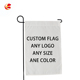 custom size design double side printing personalized sublimation blank garden flags
