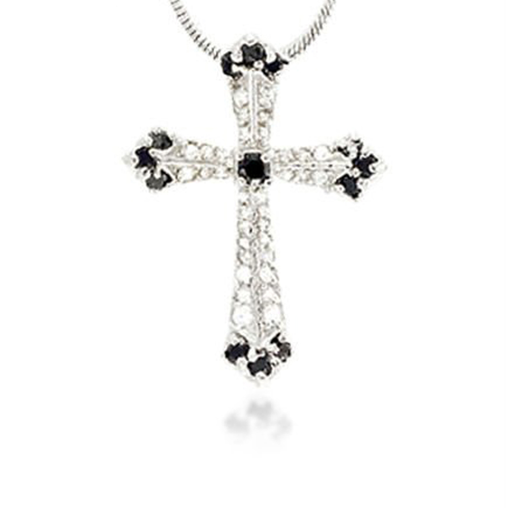 product-BEYALY-925 Silver Hollow Knot Cross Design Charms Pendants-img-2