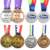 High Quality Metal Craft OEM Custom Medalla Matt Gold Medal With Crown
