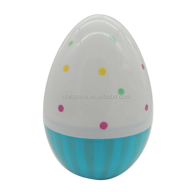 25CM height plastic egg with color printing customize design printing on egg