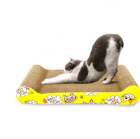 DOKA sofa shaped corrugate paper cardboard cat paper scratcher toy with catnip