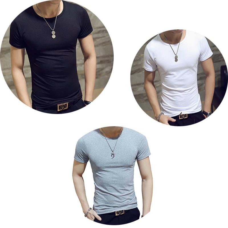 Custom Logo 2020 Summer New Color Men's Casual T-shirt Round Neck Trendy Wild Men's Short Sleeve