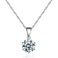 Silver titanium stone crystal jewelry fashion zircon diamond pendant necklace