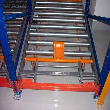 Gravity Feed Shelving Steel Pallet Rack Gravity carton flow Racking For Warehouse