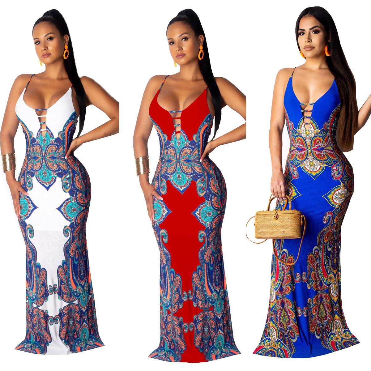 चित्रों के रूप में दिखाया बिना आस्तीन देवियों फैशन प्रिंट डिजाइन सेक्सी dashiki कपड़े kitenge मैक्सी पोशाक के लिए अफ्रीकी महिलाओं