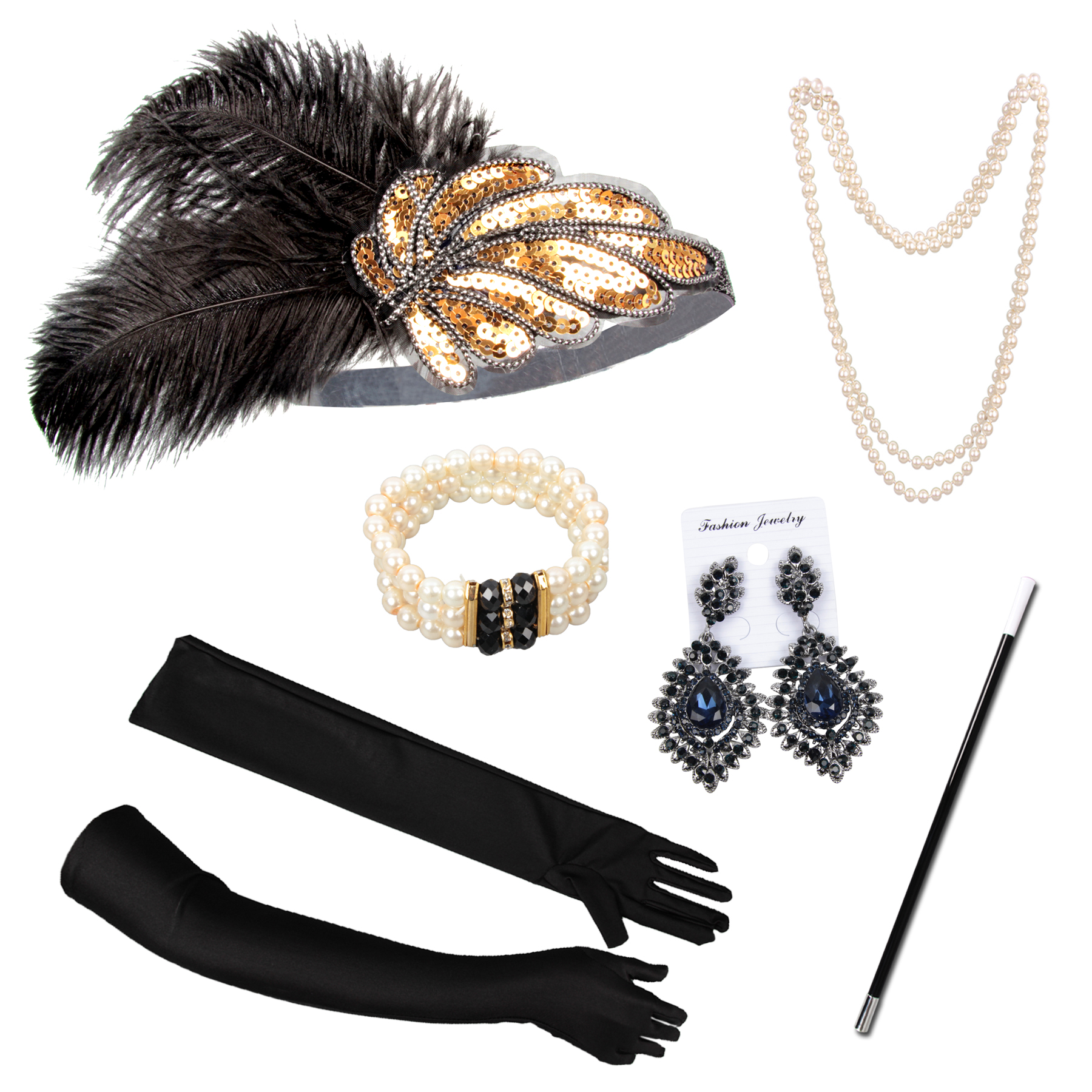 Gatsby Wedding Accessories Set With Jewelry Cigarette Holders For Women Factory Sales Handmade