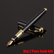 Классический дизайн, бренд Hero Rose Wood, чернильная ручка, деловая Мужская Роскошная металлическая ручка для письма, купить 2 ручки, подарок(Китай)