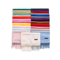 Fashionable custom logo pashmina scarf cashmere women