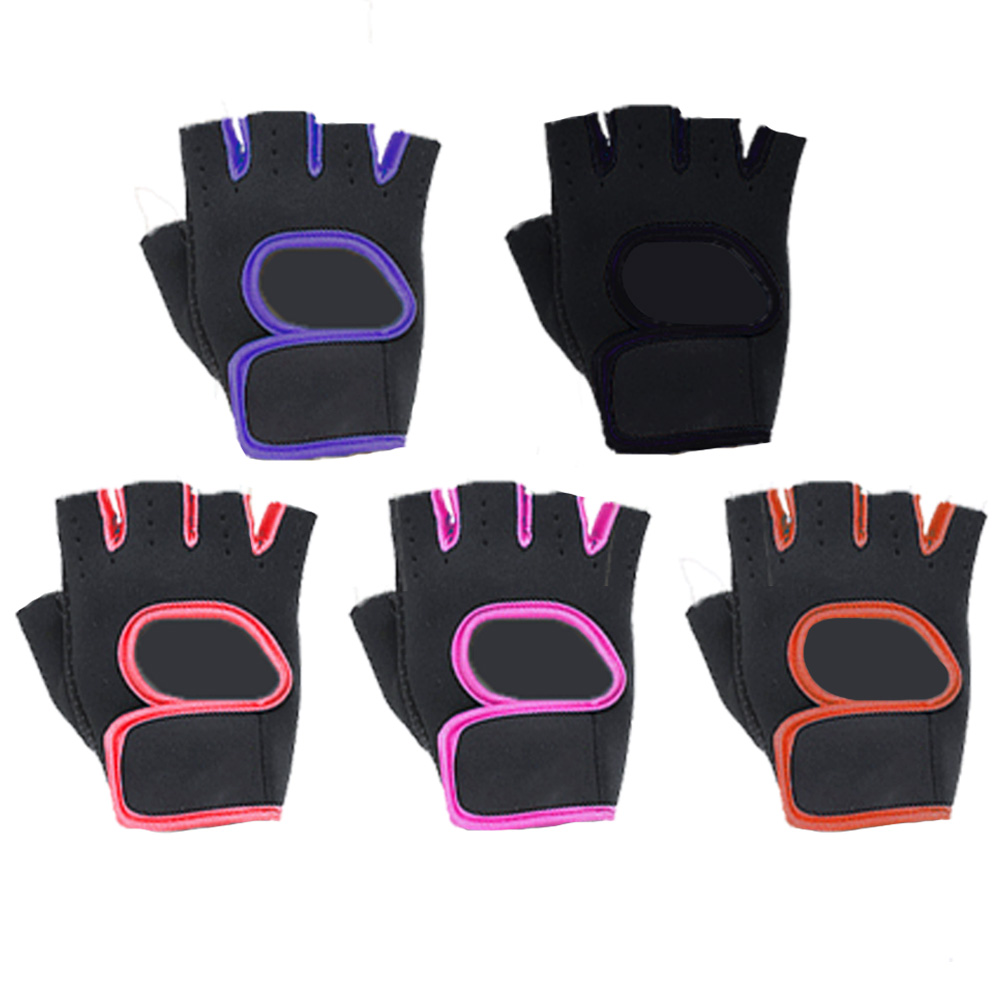 Half Finger Cycling Fitness Custom Gym Weight Lifting Gloves for Women, Black,pink,green,orange,blue