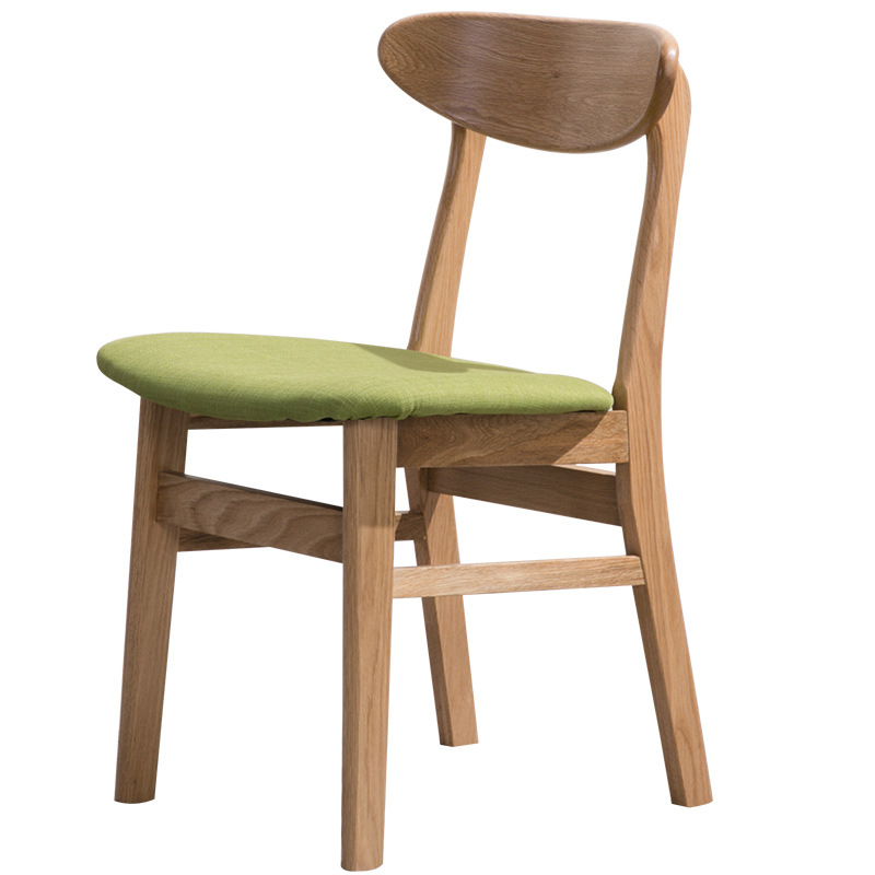 product-Modern dining chairs woodendining chair with fabric seat solid wood chairs for dining room-B-3