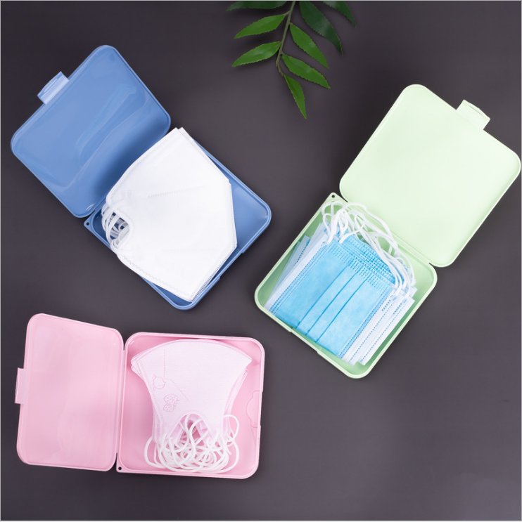Portable plastic Face Ma sk keeper storage Container dustproof ma sk storage case holder