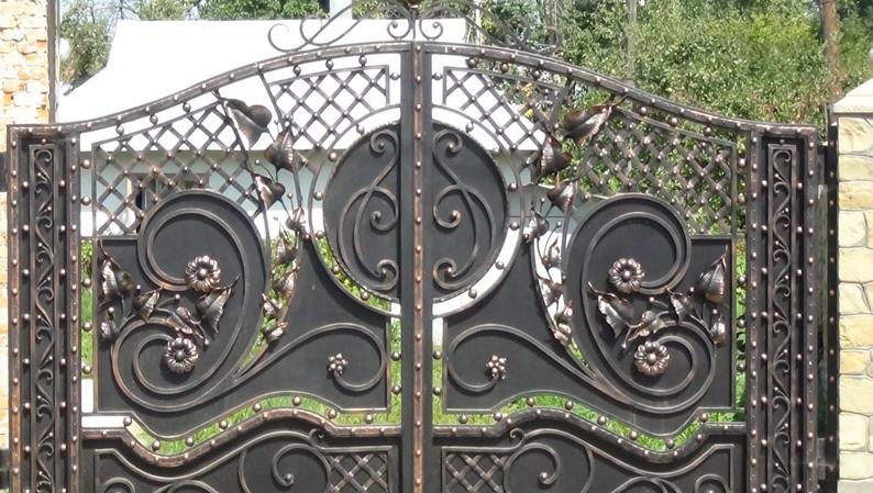 hot sale plain steel gate iron gate price