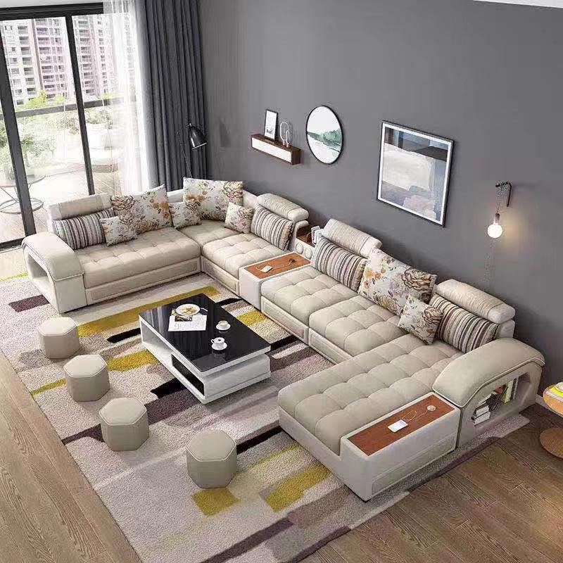 7 Sitzer U Förmigen Reclinable Lounge Stoff Luxus Moderne ...