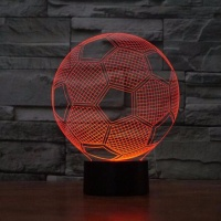 Customized Optical Illusion Lamp 3D Night Light for Soccer Club Football lovers